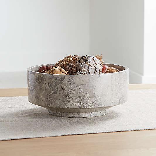 Flint Grey Marble Bowl