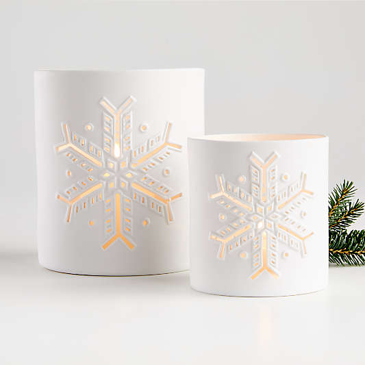 Flurry Ceramic Candle Holders