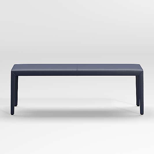 "Folio Deep Blue Top-Grain Leather 52"" Bench"