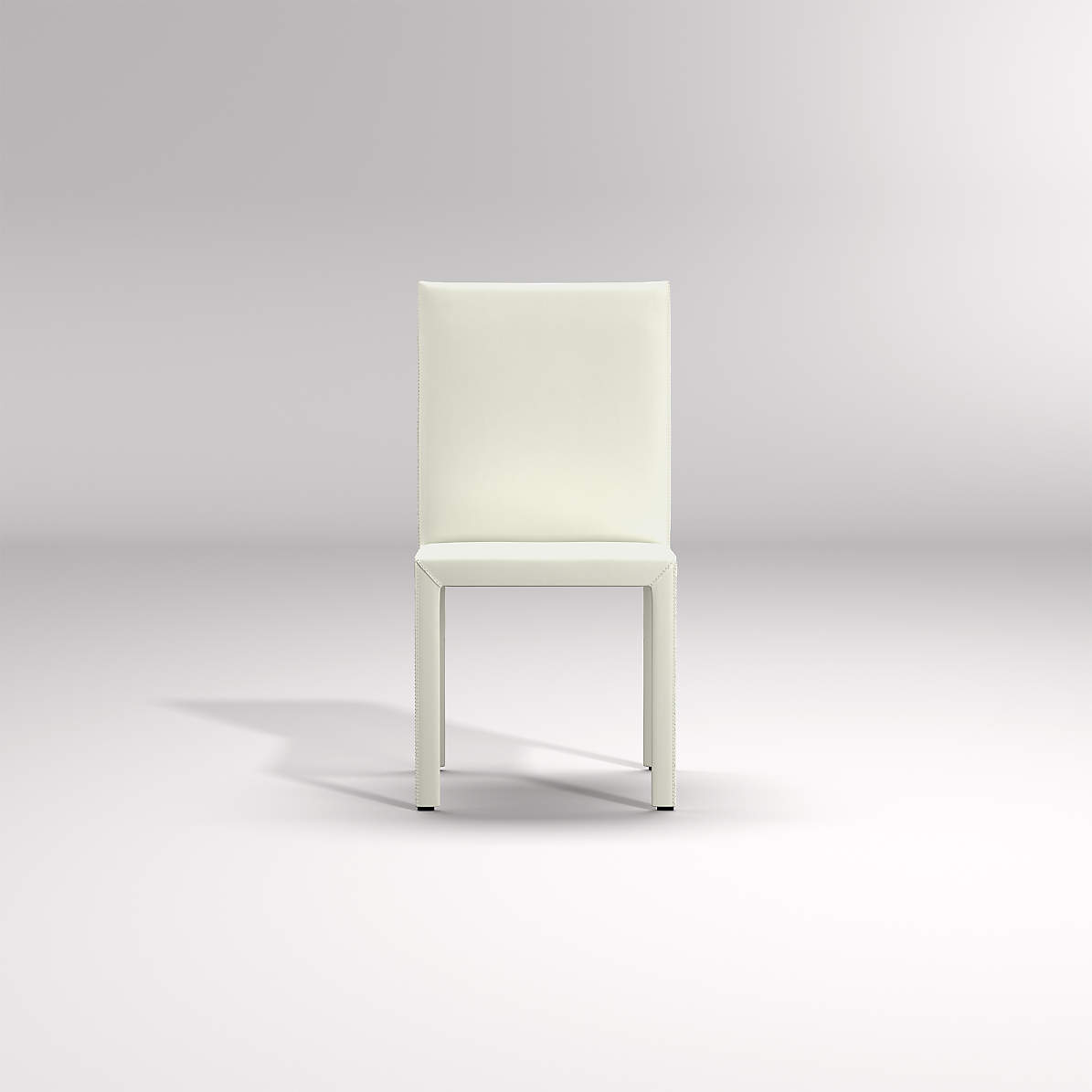 Folio White Top Grain Leather Dining Chair   Crate and Barrel