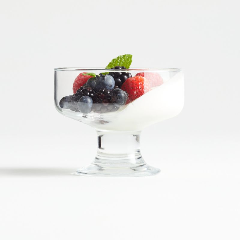 Parfait Fruit  Dessert Servers Crystal Footed Glassware Dessert  Dishes  Collection of 8 Ice Cream