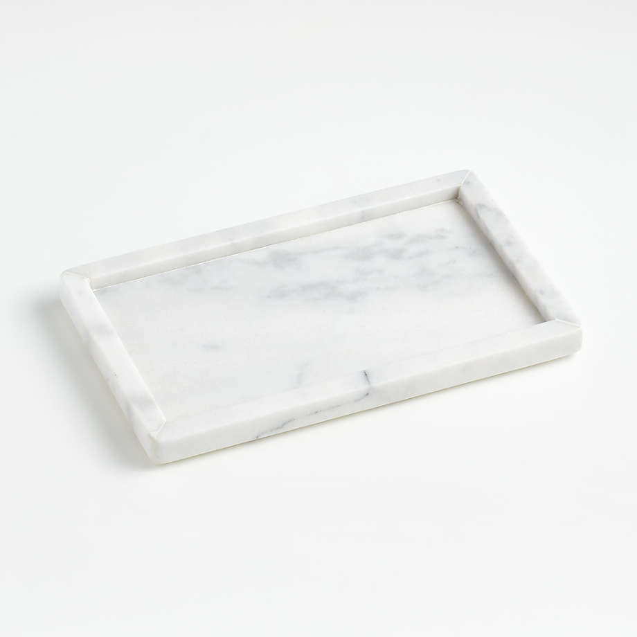French Kitchen Marble Rectangle Tray (Open Larger View)