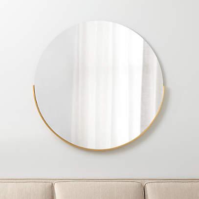 Gerald Large Round Gold Wall Mirror, Round Decorative Mirror Canada