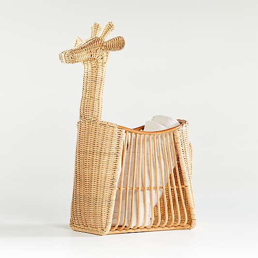 Giraffe Floor Basket