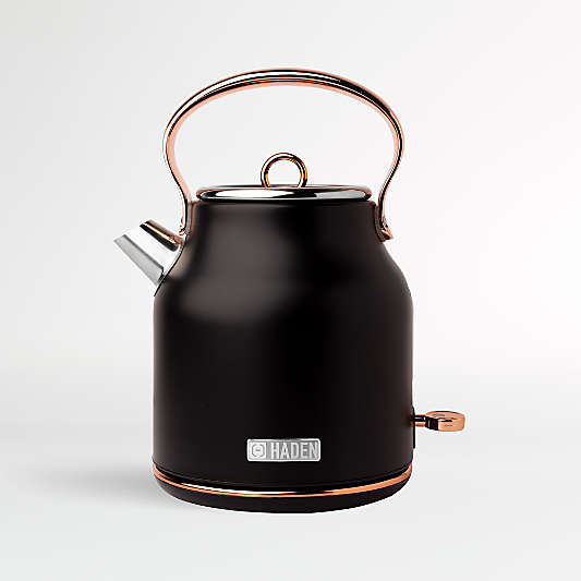 Haden Black and Copper Heritage Electric Kettle