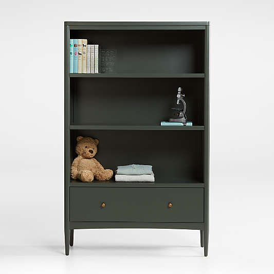 Hampshire Tall Olive Green Bookcase