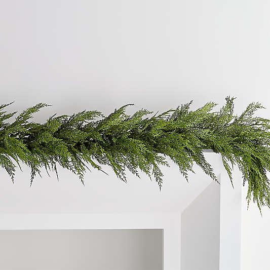 "Faux Hemlock Pine Pre-Lit LED Garland 74"""