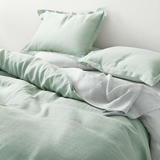 Seaglass Natural Hemp Fiber Duvet Covers and Pillow Shams