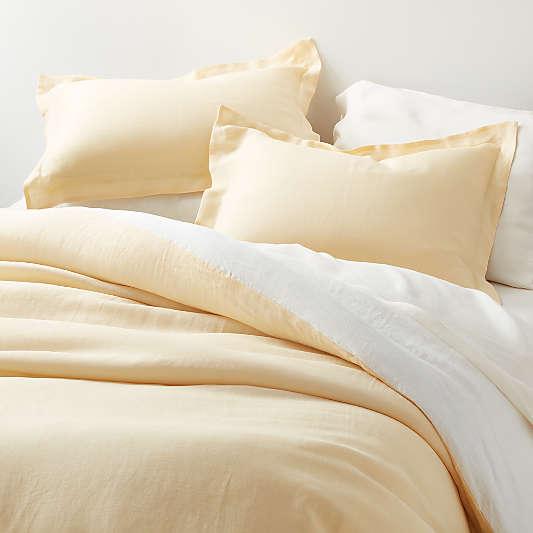Straw Natural Hemp Fiber Duvet Covers and Pillow Shams