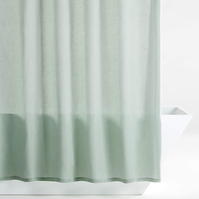 Hemp Green Shower Curtain Reviews, Green And White Shower Curtain