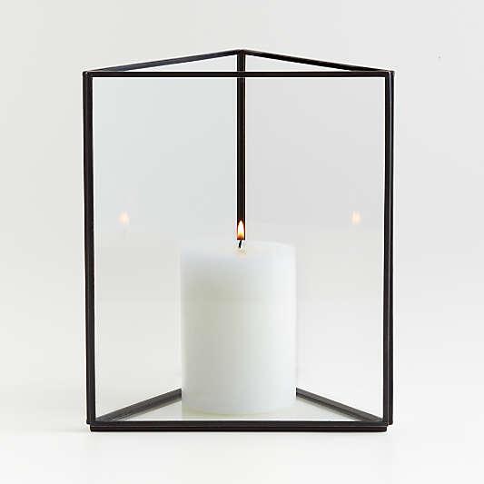 Ilum Triangular Glass Hurricane Candle Holder