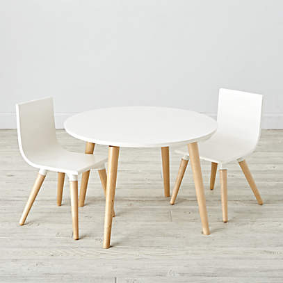 Pint Sized White Toddler Table And, Toddler Table And Chairs Set