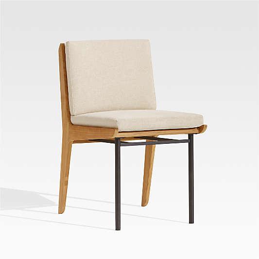 Kinney Teak Dining Side Chair with Cushion
