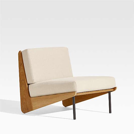 Kinney Teak Lounge Chair with Cushion