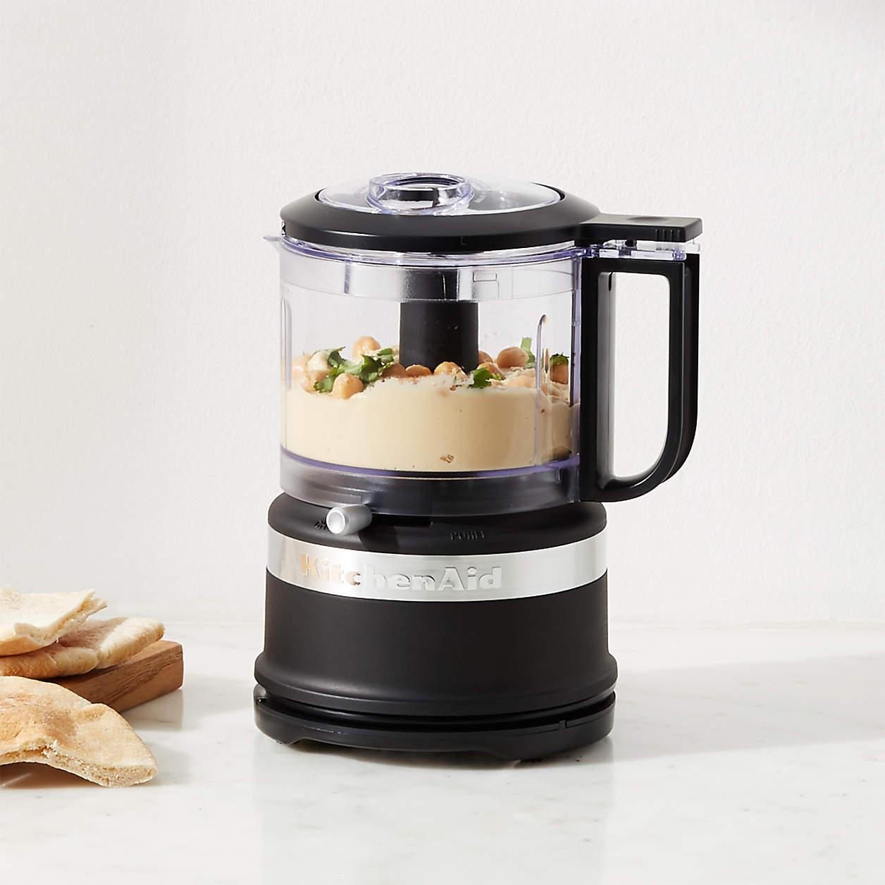 kitchenaid matte black 35cup mini food processor
