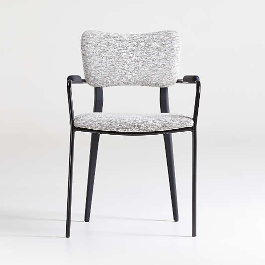 Klee Grey Bouclé Dining Chair