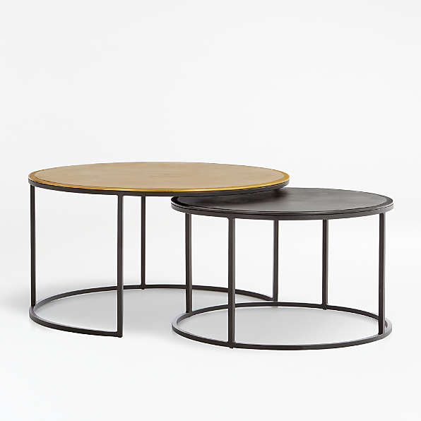 Accent Tables Coffee Console End Side Crate And Barrel - Small Black Metal Rectangle Side Table