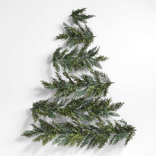"Faux Pre-Lit LED Wall Hanging Christmas Tree 58"""