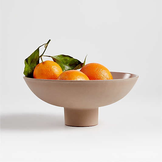 Craft Shop Clay Footed Bowl