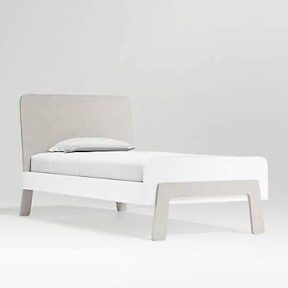 Lamont Kids Twin Bed With Headboard, White Twin Storage Bed Canada