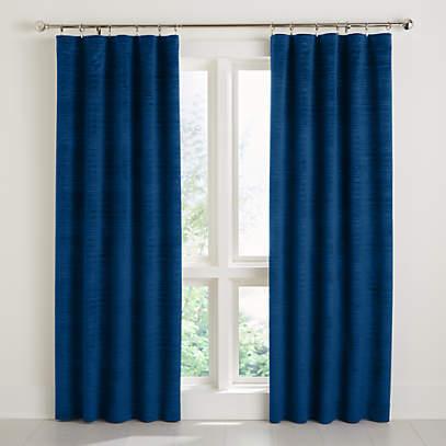 Laras Blue Blackout Velvet Curtain, How Best To Clean Velvet Curtains