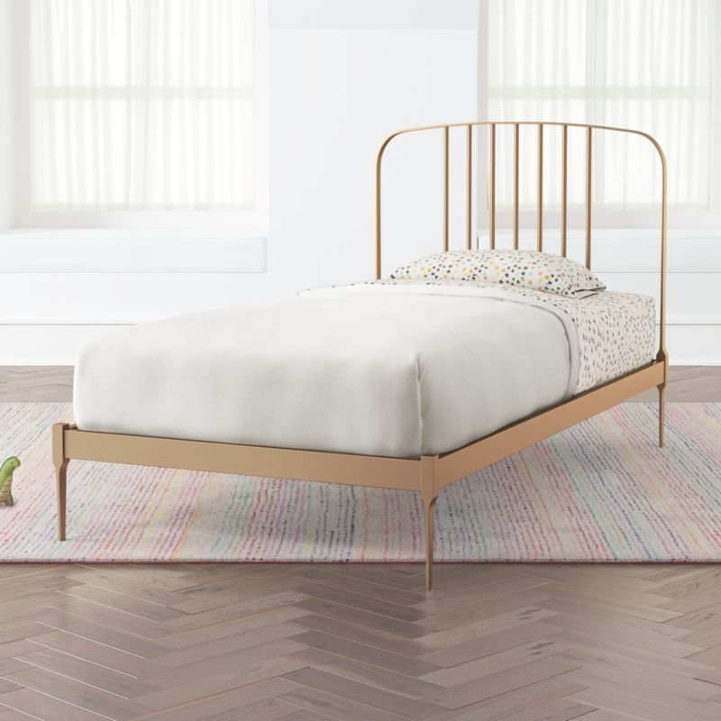 Larkin Kids Twin Gold Bed Frame, How Much Is A Twin Bed Frame