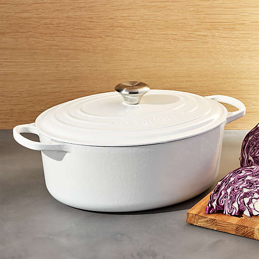 Le Creuset ® White 6.75-Qt. Oval Dutch Oven