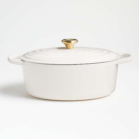 Le Creuset ® Cream Signature 8-Qt. Oval Dutch Oven