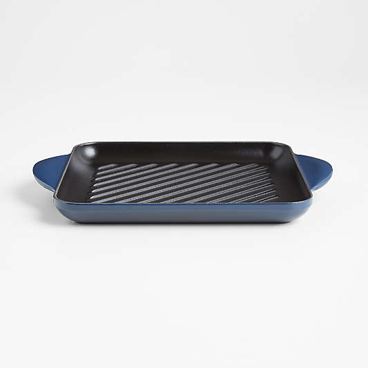 """Le Creuset ® Signature 9.5"""" Ink Square Grill Pan"""