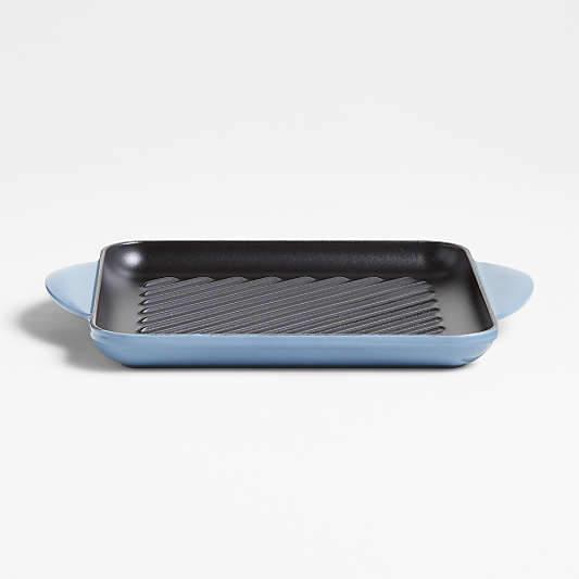 """Le Creuset ® Signature 9.5"""" Chambray Square Grill Pan"""