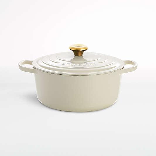 Le Creuset ® Signature 5.5 qt. Round Cream Dutch Oven with Lid