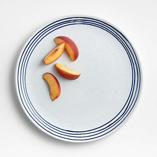 Lina Matte Blue Stripe Dinner Plate