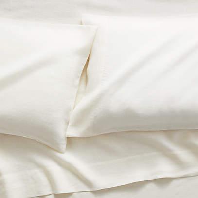Pure Linen Warm White Standard, Pure Linen Bedding Canada