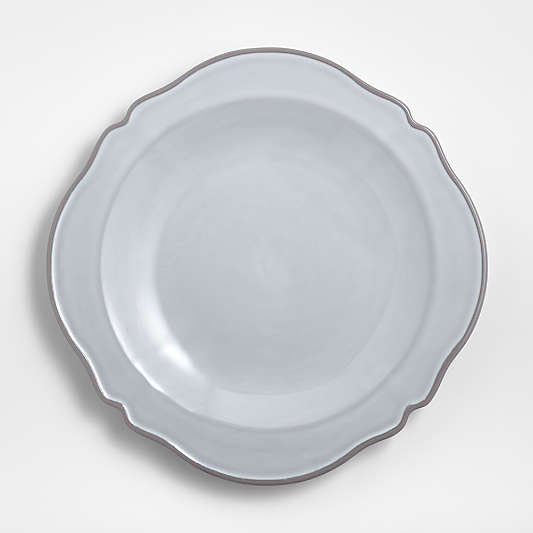 Lira White Porcelain Dinner Plate