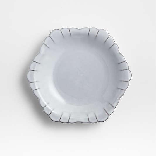 Lira White Porcelain Salad Plate