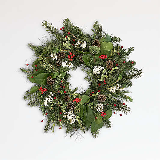 Live Red Berry Wreath
