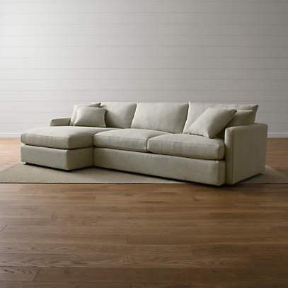 Lounge Deep 2 Piece Sectional Sofa, Crate And Barrel Lounge Sofa Reviews