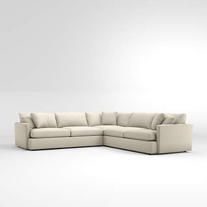Lounge Deep 3 Piece Sectional Sofa, Crate And Barrel Lounge Sofa Reviews