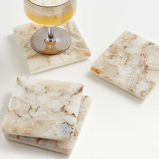 Marcella Agate Coasters, Set of 4