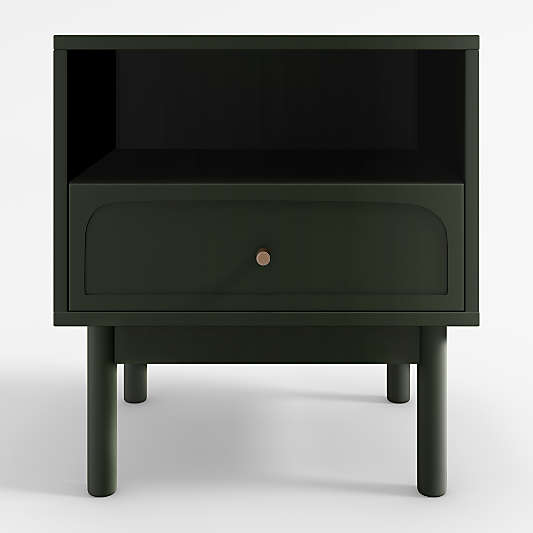 Maren Olive Nightstand with Drawer