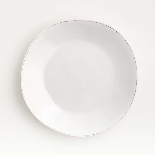 Marin White Melamine Dinner Plate