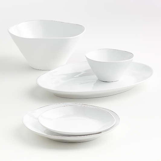 Marin White Melamine Dinnerware