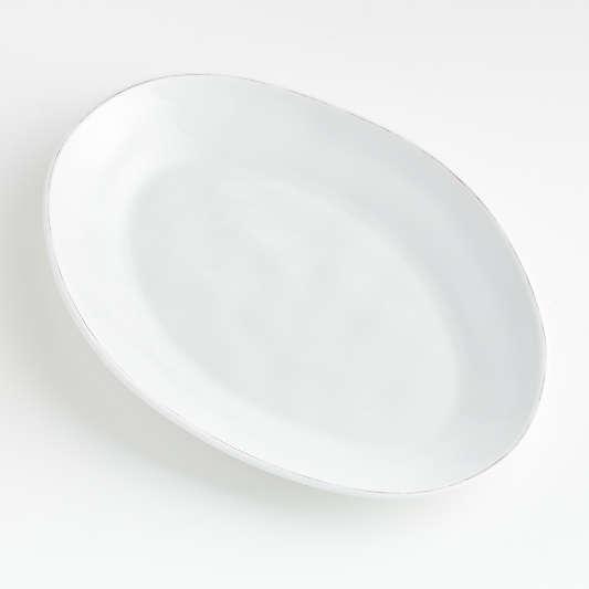Marin White Melamine Oval Platter