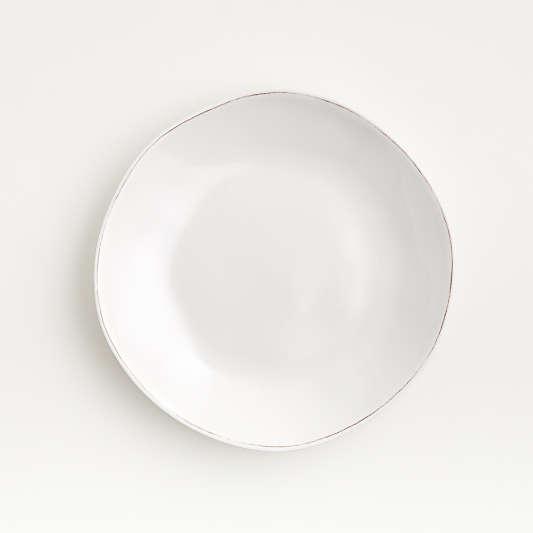 Marin White Melamine Salad Plate
