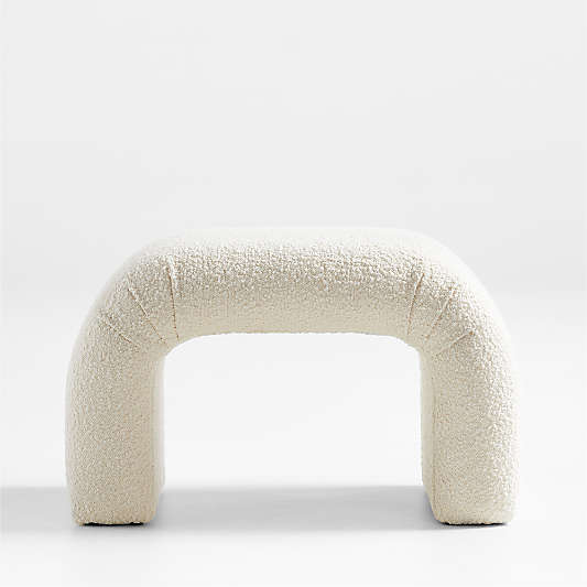 Martini Small Upholstered Ottoman by Leanne Ford