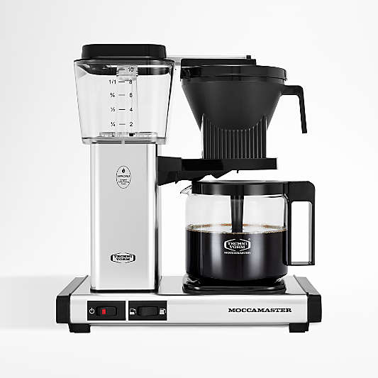 Moccamaster KBGV Glass Brewer 10-Cup Polished Silver Coffee Maker