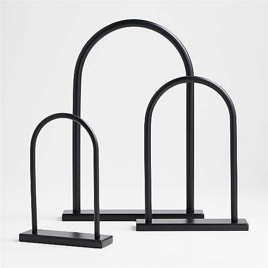 Large Metal Arch Tabletop Sculpture