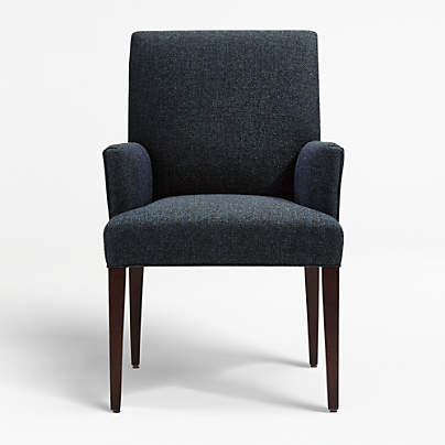 Miles Upholstered Dining Chair, Dining Room Chairs With Arms