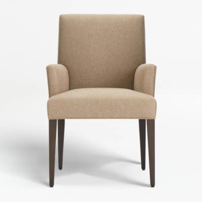 Upholstered Dining Arm Chair Reviews, Grey Fabric Dining Chairs With Arms