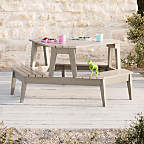 View Grey Stain Modern Kids Picnic Table - image 1 of 6